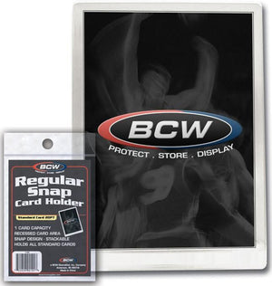 BCW Snap Card Holder Standard 20 Pt