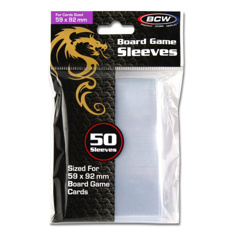 Image of BCW Board Game Sleeves 50ct Standard European 59mm x 92mm