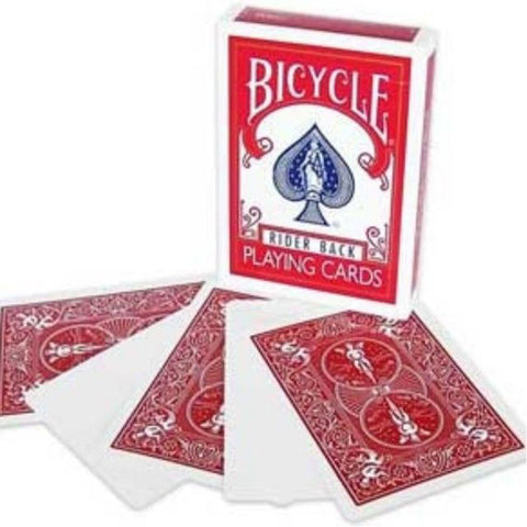 Bicycle Blank Face Red Back Case Playing Cards