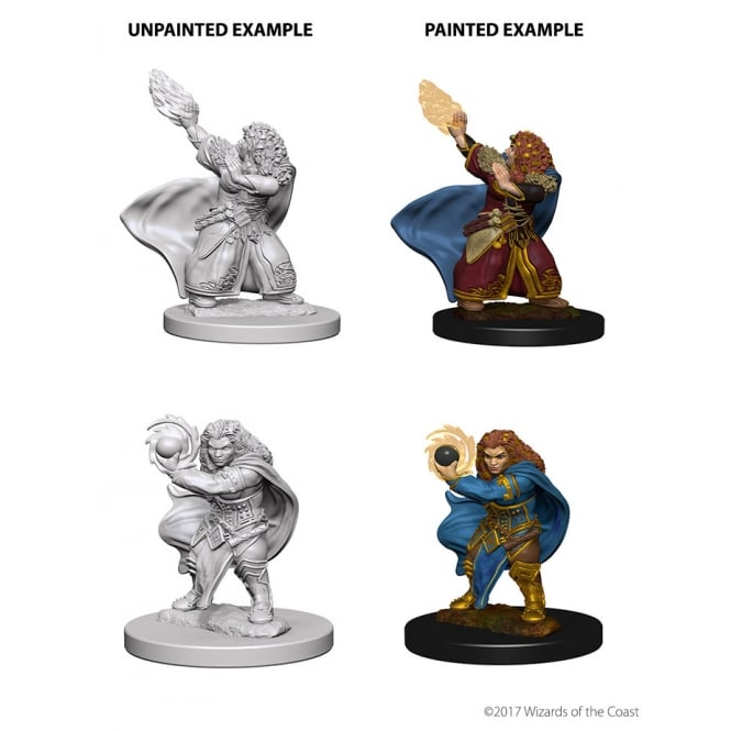 Dungeons And Dragons Unpainted Minis Dwarf Female Wizard