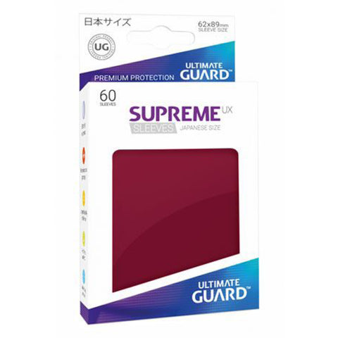 Ultimate Guard Supreme UX Sleeves Japanese Size Burgundy