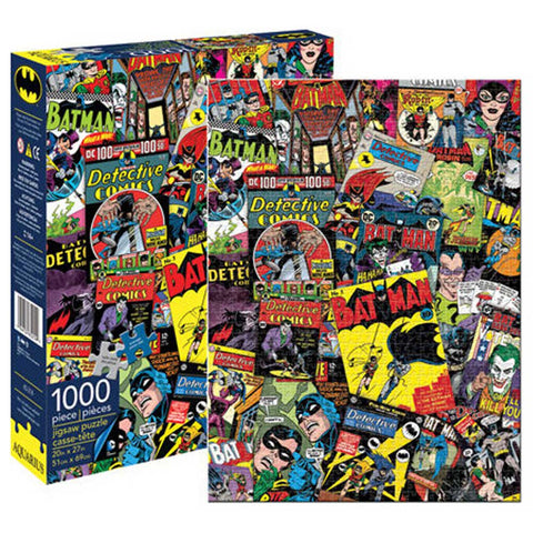 Aquarius Puzzle DC Comics Batman Retro Collage Puzzle 1,000 pieces