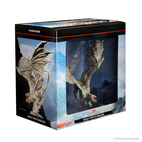 Image of Dungeons & Dragons - Icons of the Realms Adult White Dragon Premium Figure