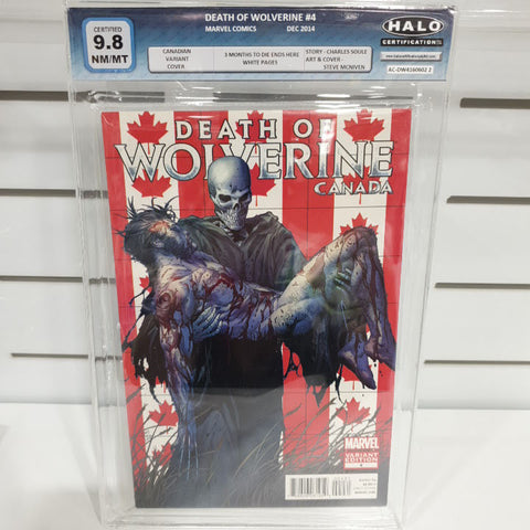 Death Of Wolverine Set Of 4 Canada Graded 9.9 to 9.8