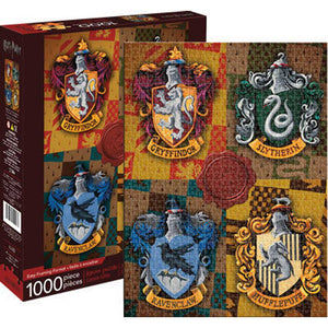 Aquarius Puzzle Harry Potter Crests Puzzle 1,000 pieces