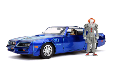Image of It (2017) - 1977 Pontiac Firebird 1:24 with Pennywise Figure Hollywood Ride