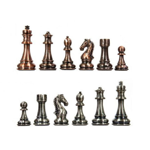 Image of Kasparov Grandmaster Silver & Bronze Chess Set