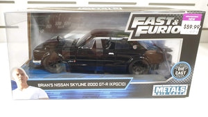 Fast & Furious Brians Nissan Skyline 2000 GT-R 1/24 Scale