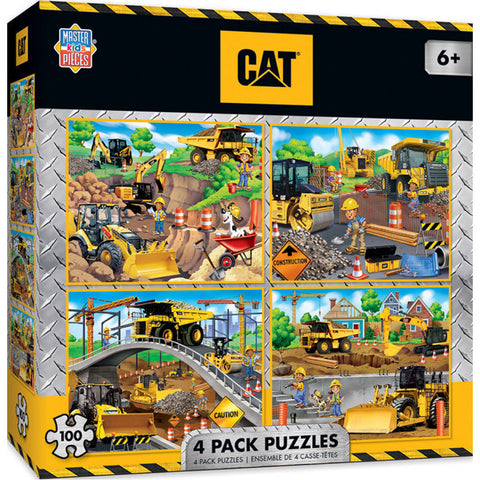 Masterpieces Puzzle 4 Pack CAT Caterpillar 100 Pieces