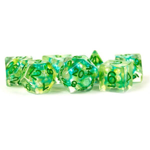 MDG Resin Pearl Polyhedral Dice Set 16mm - Sea Foam