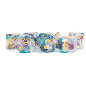 MDG Unicorn Resin Polyhedral Dice Set - Fancy Fae