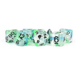 MDG Unicorn Resin Polyhedral Dice Set - Sea Kelp