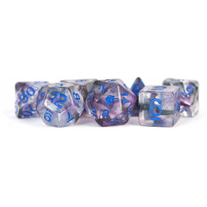MDG Unicorn Resin Polyhedral Dice Set - Stellar Storm
