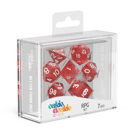 Oakie Doakie Dice RPG Speckled Red