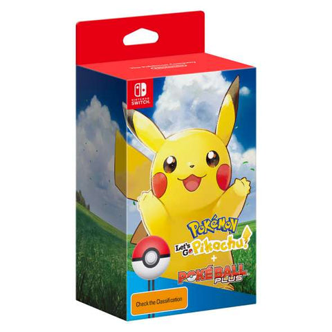 Pokemon Lets Go Pikachu with Poke Ball Plus