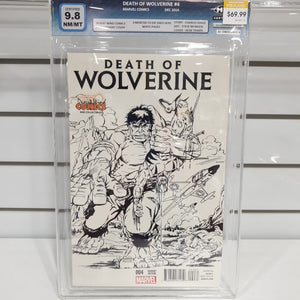 Death Of Wolverine #4 Desert Wind Comics Variant Certified 9.8
