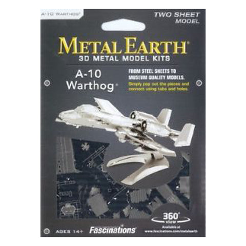 Image of Metal Earth A-10 Warthog Model Kit