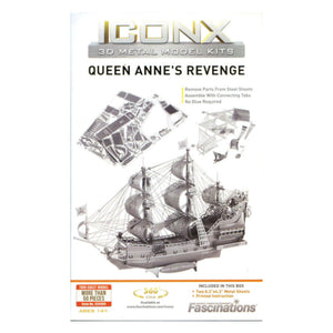 Metal Earth Iconx Queen Annes Revenge