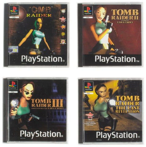 PS1 Coasters Tomb Raider