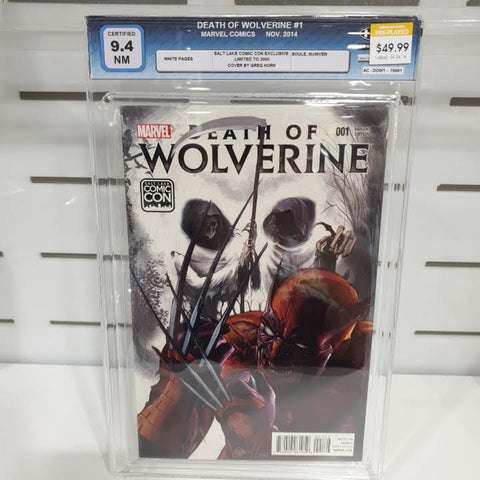 Death Of Wolverine #1 Salt Lake CC Certified 9.4