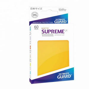 Ultimate Guard Supreme UX Sleeves Japanese Size Matte Yellow