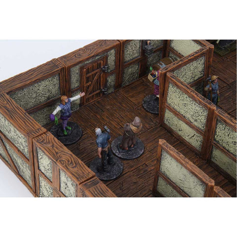 WarLock Tiles Town & Village II Full Height Plaster Walls Expansion