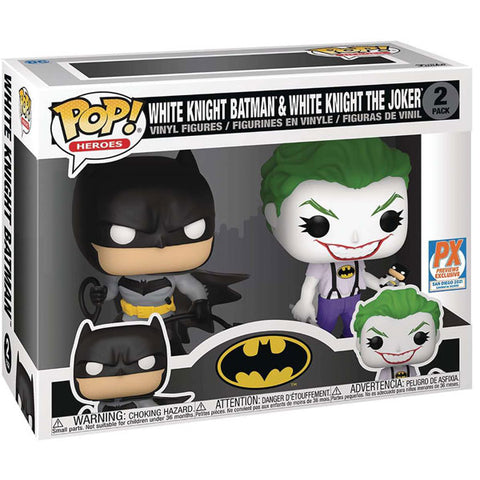 Image of Batman - Batman & Joker (White Knight) US Exclusive Pop! Vinyl 2-Pack
