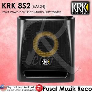KRK 8S2 Rokit Powered 8 inch Studio Subwoofer -  Reco Music Malaysia