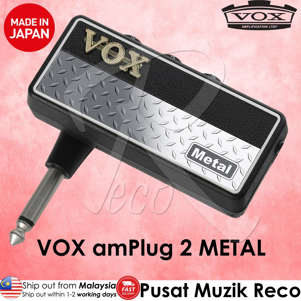 VOX AP2MT amPlug 2 Metal Guitar/Bass Headphone Amplifier - Reco Music Malaysia