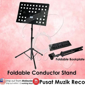 RM S50 Foldable Conductor Stand Note Stand Music Stand Foldable Bookplate - Reco Music Malaysia