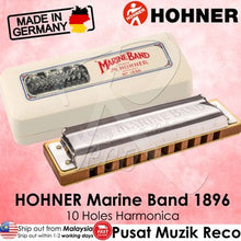 Load image into Gallery viewer, Best Hohner Marine Band Harmonica 10 Holes E Key | RecoMusic Malaysia