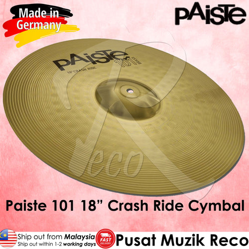 Paiste 101 Brass 18 Inch Crash Ride Cymbals - Reco Music Malaysia