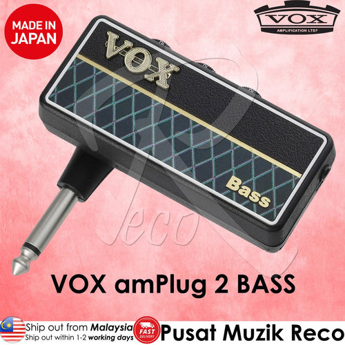 VOX amPlug 2 Bass Headphone Guitar Amplifier - Reco Music Malaysia