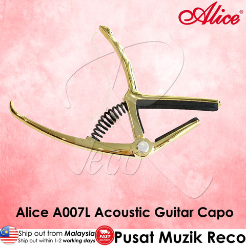 Alice A007L GD Pro-Trigger Acoustic Guitar Capo - Recomusic