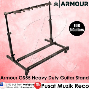 Armour GS55 Heavy Duty Guitar Stand - Holds Up To 5 Guitars | Reco Music Malaysia