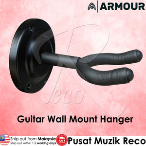 Armour GWM2 Guitar Wall Mount Hanger (METAL) | Reco Music Malaysia