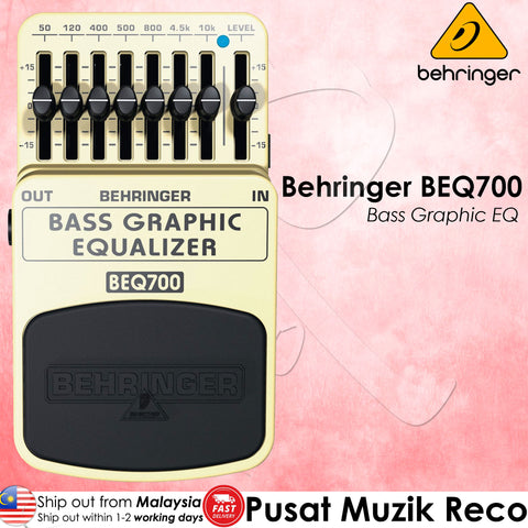 Behringer BEQ700 Bass Graphic Equalizer - Reco Music Malaysia