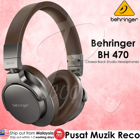 Behringer BH-470 Closed-Back Studio Reference Headphones (BH470 BH 470)