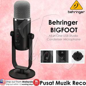 Behringer New BIGFOOT All-in-One USB Studio Condenser Microphone - Reco Music Malaysia