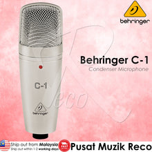 Load image into Gallery viewer, Behringer C-1 Large-Diaphragm Studio Condenser Microphone - Reco Music Malaysia