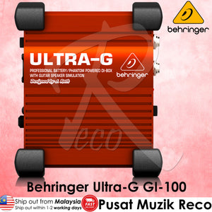 Behringer Ultra-G GI100 1-channel Active Guitar Direct Box | Reco Music Malaysia