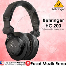 Load image into Gallery viewer, Behringer HC 200 High-Quality Professional Closed-Back Over-Ear DJ Headphones | Reco Music Malaysia
