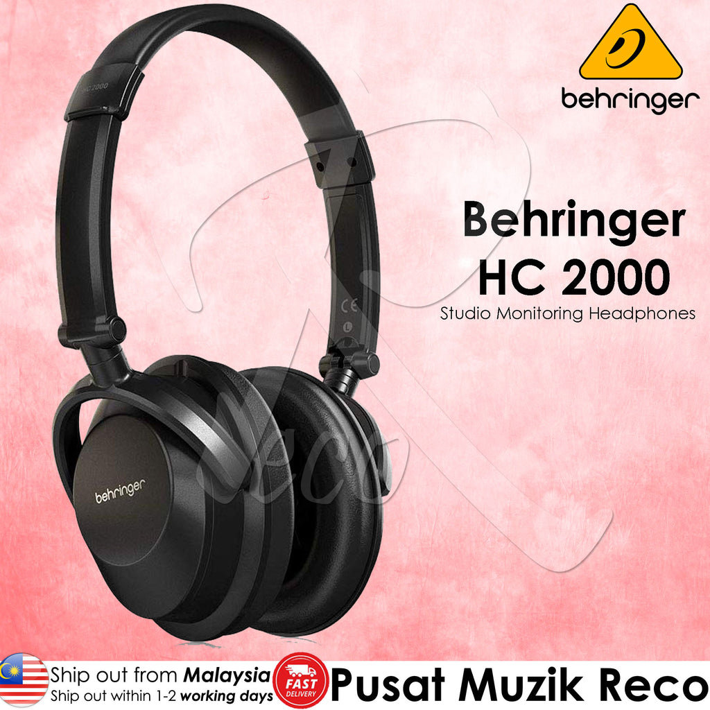 Behringer HC 2000 High-Quality Professional Studio Monitoring Closed-Back Headphones(HC200 HC-200) | Reco Music Malaysia