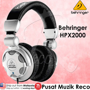 Behringer HPX2000 High-Definition Dj Headphones - Reco Music Malaysia