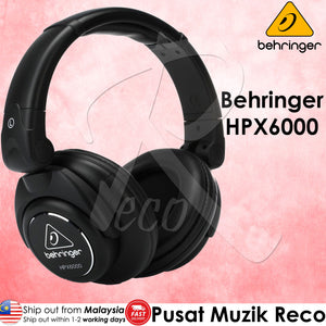 Behringer HPX6000 High-Definition Dj Headphones - Reco Music Malaysia