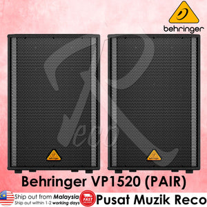Behringer VP-1520 1000W 15inch Passive PA Speaker - Pair | Reco Music Malaysia