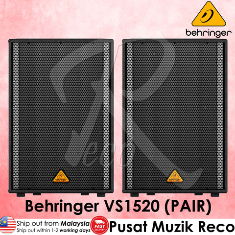 Behringer VS1520 600W 15inch Passive Speaker - Pair | Recomusic