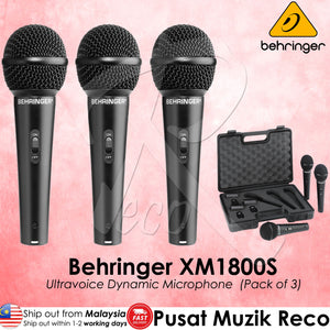 Behringer XM1800S (3-Pack) Dynamic Microphones | Reco Music Malaysia