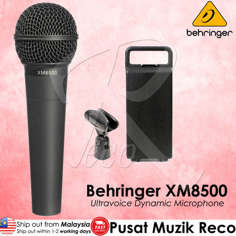 Behringer XM8500 Dynamic Vocal Microphone | Recomusic