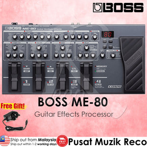 Boss ME-80 Guitar Multi Effects Pedal | Reco Music Malaysia
